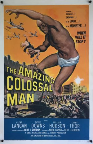 the amazing colossal man US one sheet poster linen backed