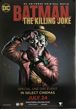 batman the killing joke NZ one sheet poster