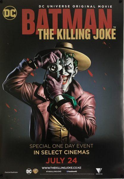 batman the killing joke NZ one sheet poster