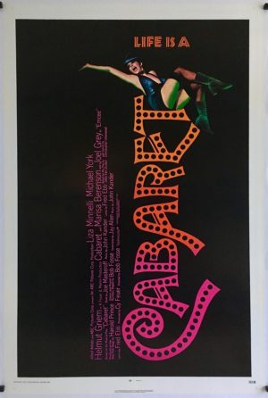 cabaret US one sheet poster linen backed