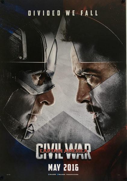 captain america civil war one sheet poster