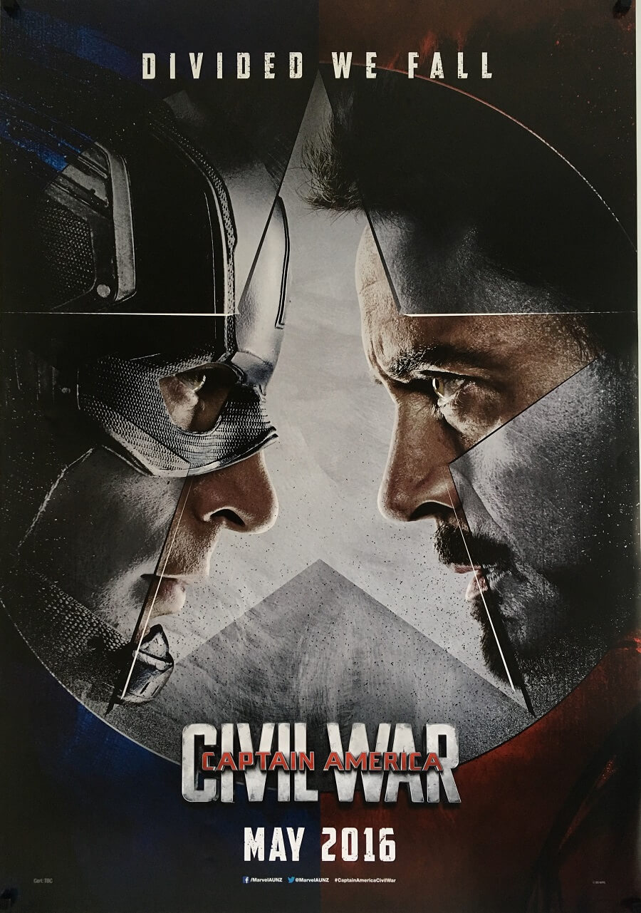 captain america civil war one sheet poster