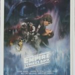 the empire strikes back one sheet poster linen backed