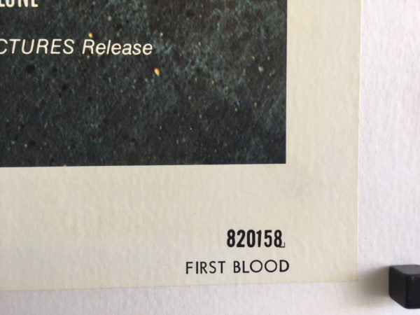first blood rambo us one sheet poster linen backed