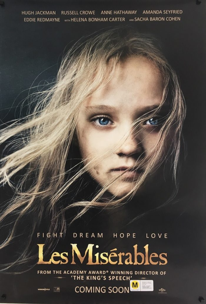 les miserables one sheet poster