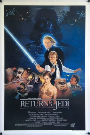 Return of the jedi original one sheet posters style B