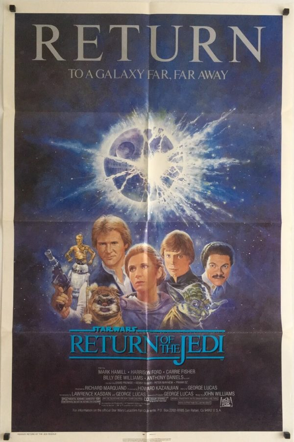return of the jedi R85 re-release 1985 one sheet poster
