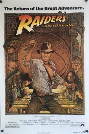 raiders of the lost ark R82 re-release 1982 US one sheet poster