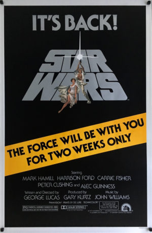 Star wars R81 re-release 1981 one sheet poster