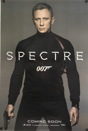 james bond spectre rollneck us one sheet poster
