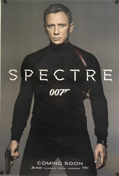 james bond spectre rollneck us one sheet poster