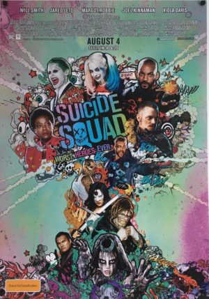 suicide squad original one sheet poster Australian