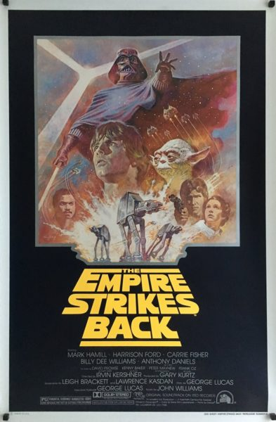 The empire strikes back R81 re-release 1981 us one sheet poster