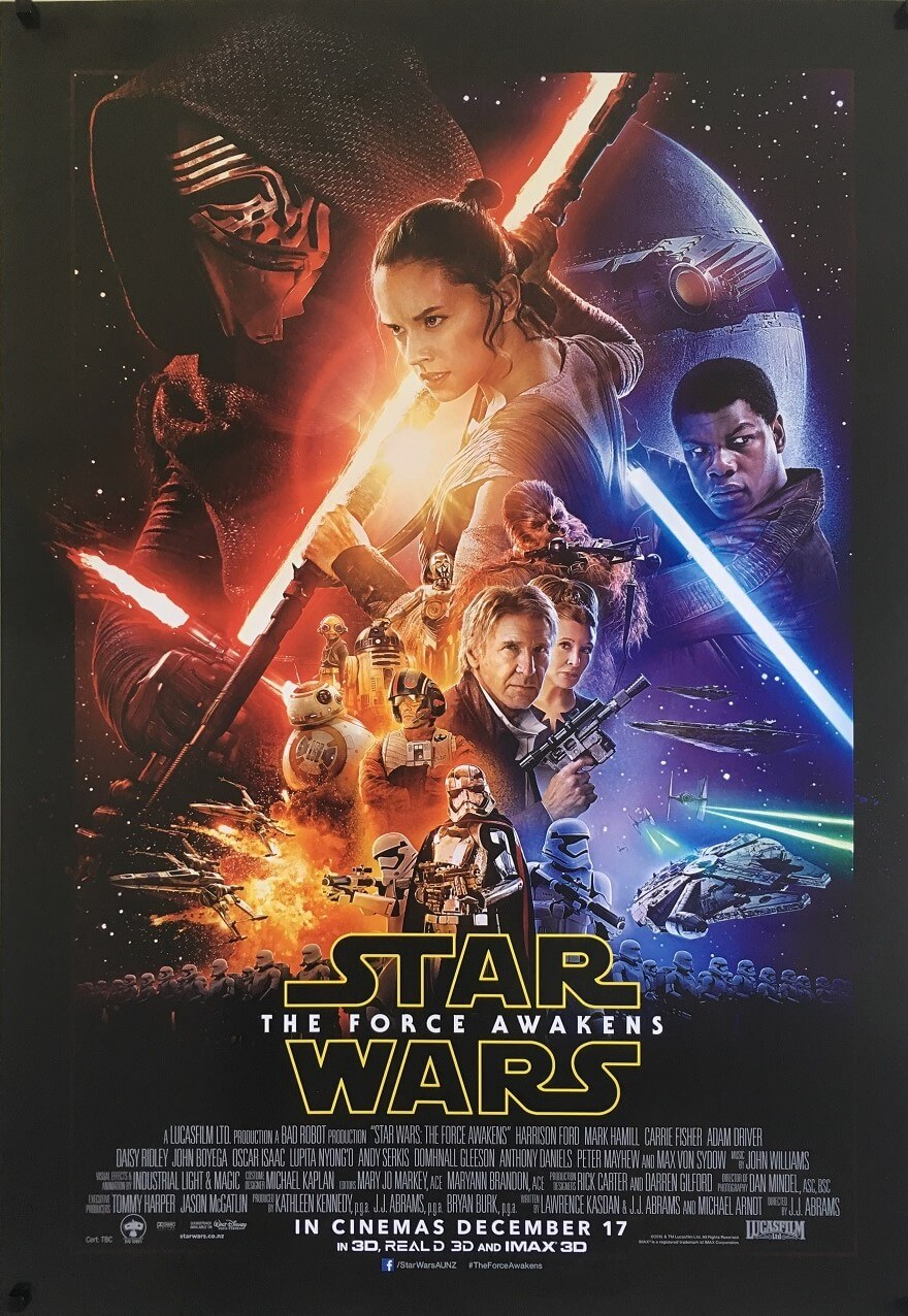 the force awakens NZ one sheet poster