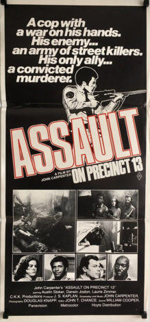 assault on precinct 13 daybill poster