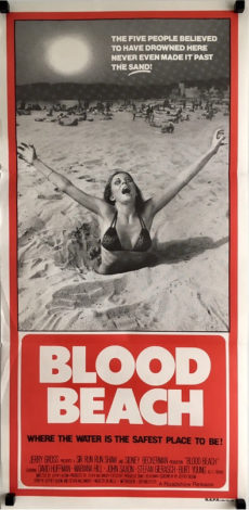 blood beach daybill poster