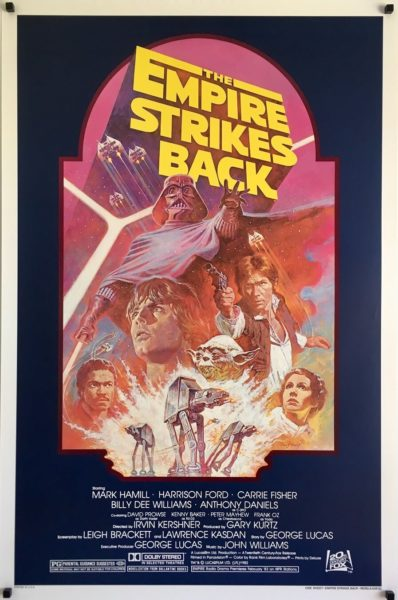 the empire strikes back R82 re-release 1982 one sheet poster rolled