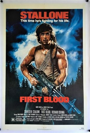 First Blood Rambo US One Sheet poster linen backed 1