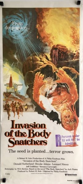 invasion of the body snatchers daybill poster