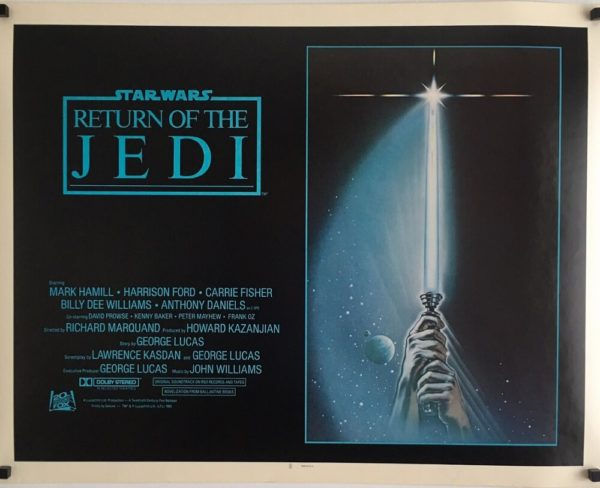 Return of the jedi half sheet poster international