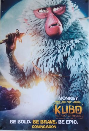 kubo and the two strings one sheet poster monkey