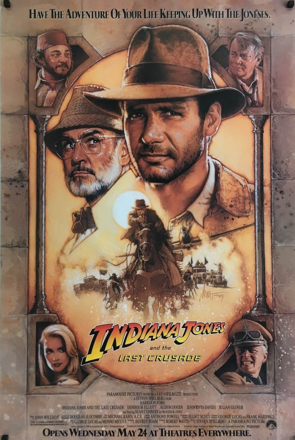 indiana jones and the last crusade us one sheet poster