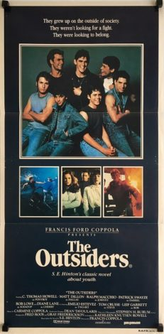 the outsiders daybill poster