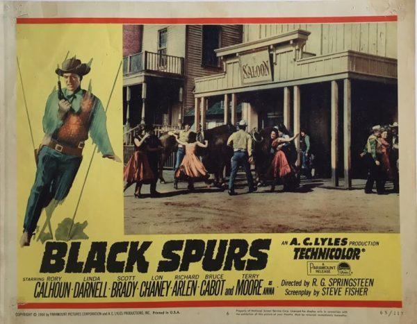 Black Spurs Lobby Cards