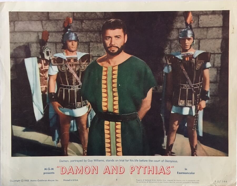 Damon and Pythias Lobby Card