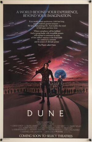 Dune Original Advance One Sheet Poster
