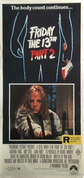 Friday The 13th Part 2 Daybill
