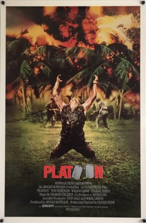 Platoon Original International One Sheet Poster