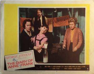 The Diary Of Anne Frank Lobby Card