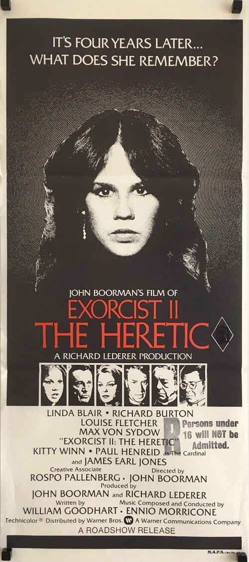 The Exorcist 2 australian daybill poster