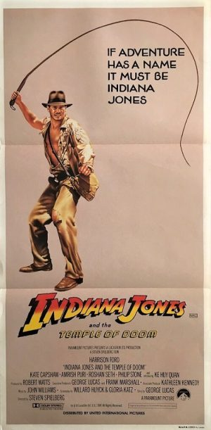Indiana Jones and the Temple Of Doom Daybill Whip poster 1