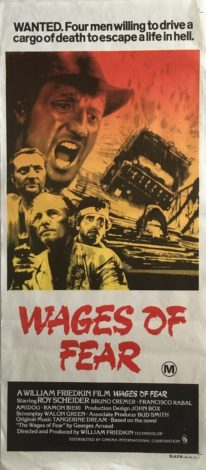 Wages Of Fear Daybill poster 1977