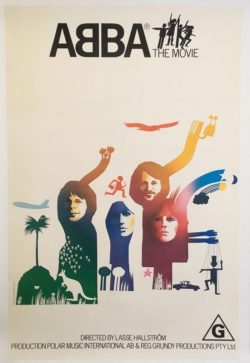 ABBA The Movie Australian One Sheet 1977 Linen Backed