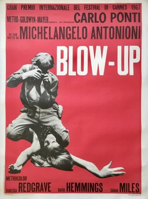 Blow-up Italian poster linen backed 1970's Re-release Italian 2 Fogli Blow Up