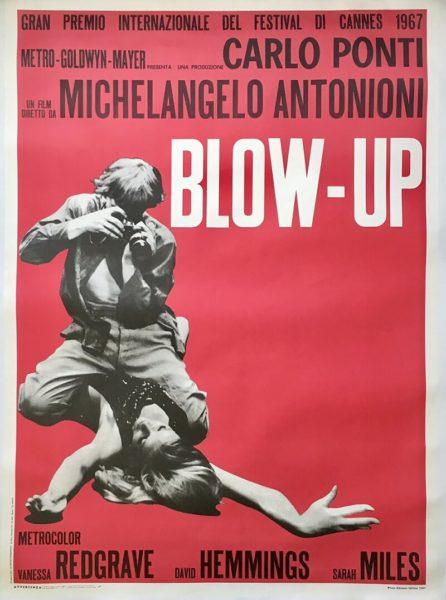 Blow-up Italian poster linen backed 1970's Re-release Italian 2 Fogli Blow Up