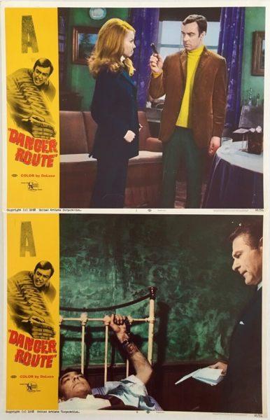 Danger Route Lobby Card 1968