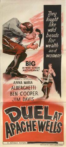 Duel at apache wells australian daybill poster