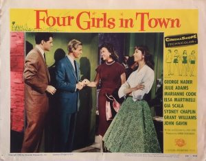 Four Girls In Town Lobby Card 1956