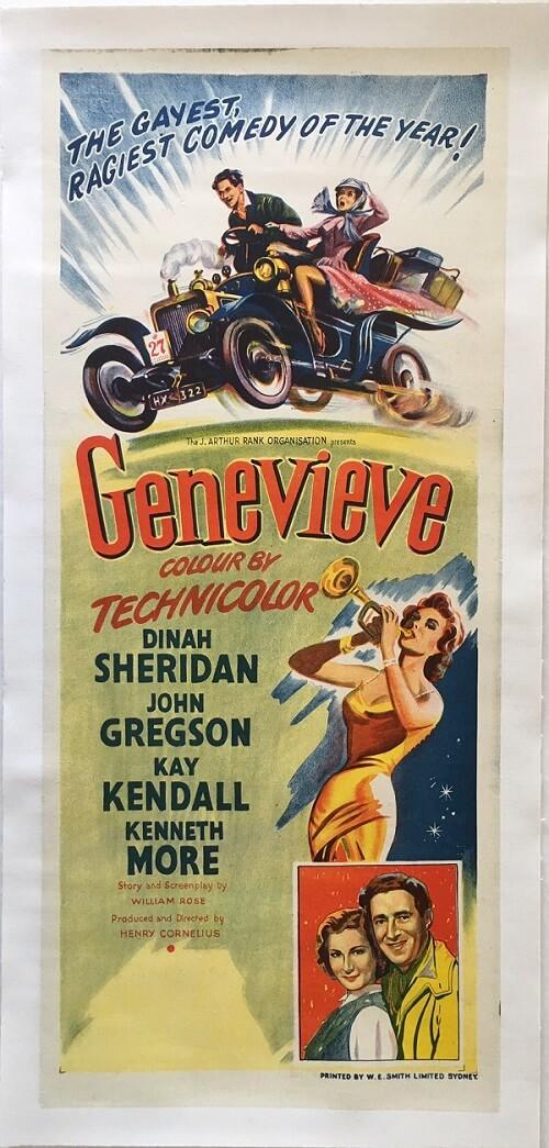 Genevieve Australian NZ daybill poster 1954 linen backed