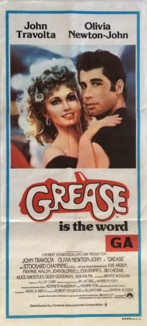Grease australian daybill poster 1978