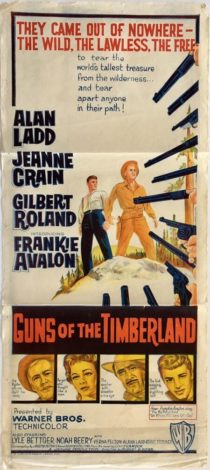 Guns Of The Timberland Australian daybill 1960