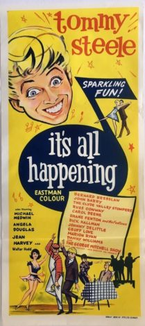 Its all happening australian daybill poster 1963 Tommy Steele