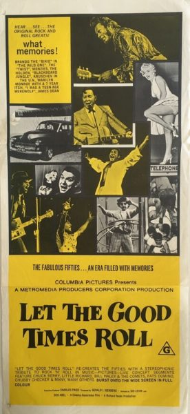 Let the good times roll daybill poster