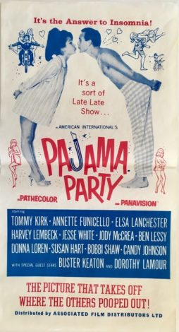 Pajama Party Australian daybill 1964