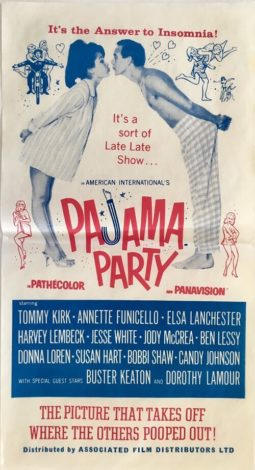 Pajama party australian daybill poster 1964