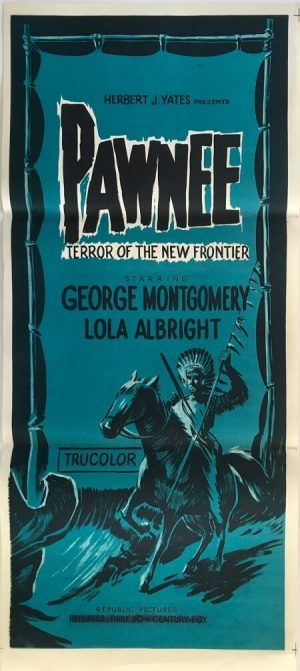 Pawnee Australian daybill poster R70s
